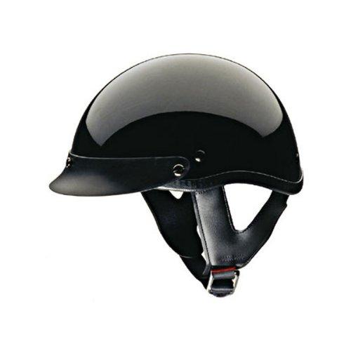 Hci-100 Black Motorcycle / Scooter Half Helmet (large)