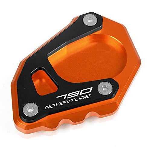 790 Adventure Motorcycle Kickstand Side Stand Enlarger Extension Enlarger Pate Pad For KTM 790 Adventure R 2019 790 Adventure S 2019 790 Adventure 2019 OrangeBlack