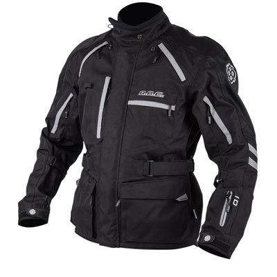 ARC Battle Born Adventure Foul Weather Motorcycle Jacket - BLACK - XXL - Includes free neck gaiter