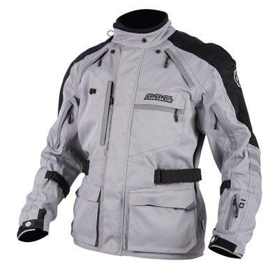 ARC Battle Born Adventure Foul Weather Motorcycle Jacket - GRAY - MEDIUM - Includes neck gaiter