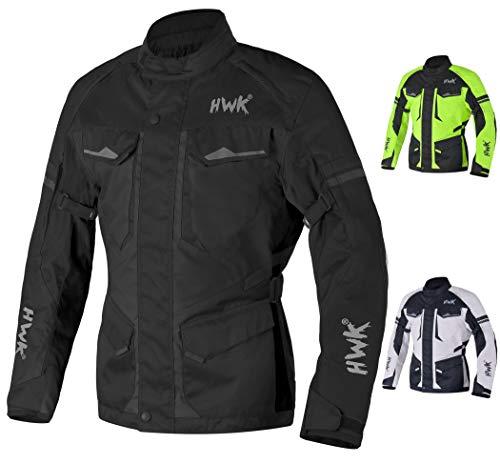 AdventureTouring Motorcycle Jacket For Men Textile Motorbike CE Armored Waterproof Jackets ADV 4-Season Black M