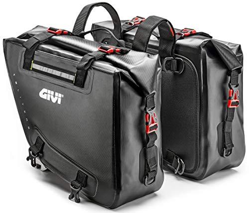 Givi GRT718 Pair Waterproof Saddlebags for Adventure Motorcycles Dual Sport Enduro 15 Liters