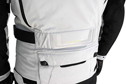 HELITE Unisex-Adult Adventure Motorcycle Airbag Jacket Grey Large