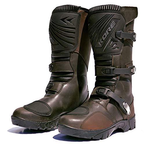 Kore Adventure Motorcycle Boots 10 US Brown