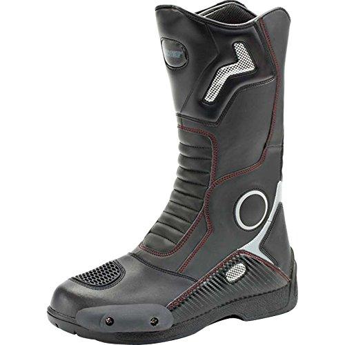 Joe Rocket Ballistic Touring Mens Riding Shoes Sports Bike Racing Motorcycle Boots - Black / Size 10