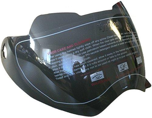 Typhoon Helmets Double Pane Visor Shield XP14 Adult Dual Sport Helmet
