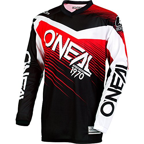 ONeal Mens Element Racewear Jersey BlackRed Medium