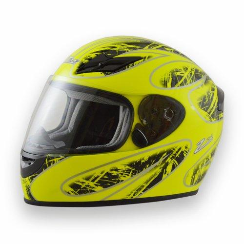 Fs-8 Graphic Neon Neon Green/black Motorcycle Kart Snell M2015 Helmet By Zamp X-large