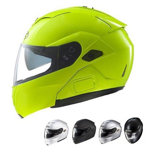 Hjc Sy-maxbt Iii Bluetooth Modular Motorcycle Helmet (hi-viz Neon, Medium)