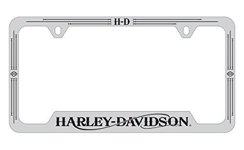 Harley-Davidson Bottom Engraved License Plate Frame Holder Stylized HD Wordmark