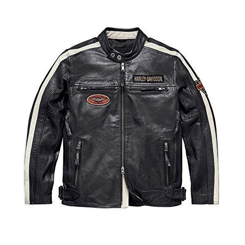 Harley-Davidson Mens Command Leather Jacket Black Large