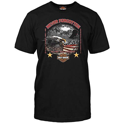 Harley-Davidson Military - Mens Veteran Graphic T-Shirt - Never Forgotten SM Black