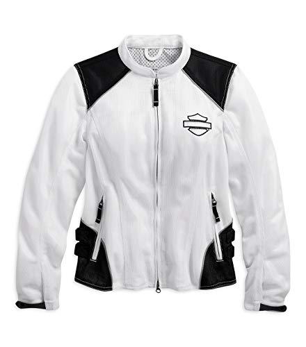 Harley-Davidson Womens Callahan Mesh Riding Jacket White X-Large