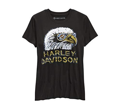 Harley-Davidson Womens Retro Eagle Tee Black Large