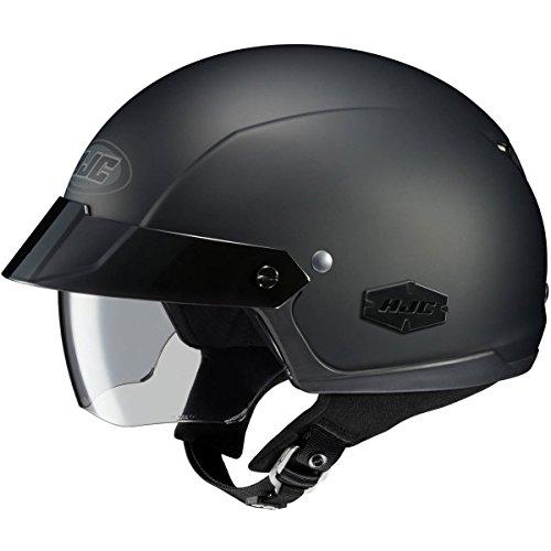 HJC Solid IS-Cruiser Half 12 Shell Motorcycle Helmet - Matte Black  Medium