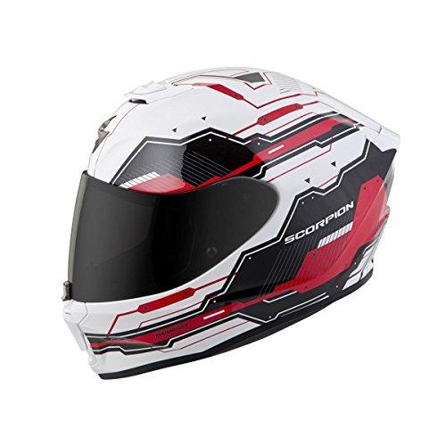 Scorpion EXO-R420 Full-Face Techno Street Bike Motorcycle Helmet - WhiteRedMedium