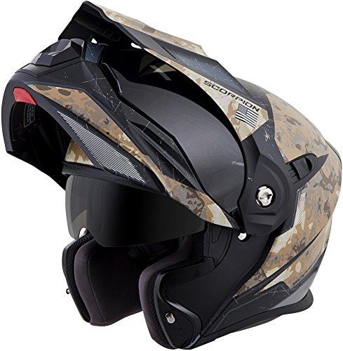 ScorpionExo EXO-At950 Unisex-Adult Flip-Up-Style Battleflage Helmet Sand XXX-Large