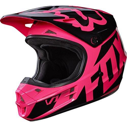 Fox Racing 2017 Race Adult V1 Motocross Motorcycle Helmets - Pink  Large