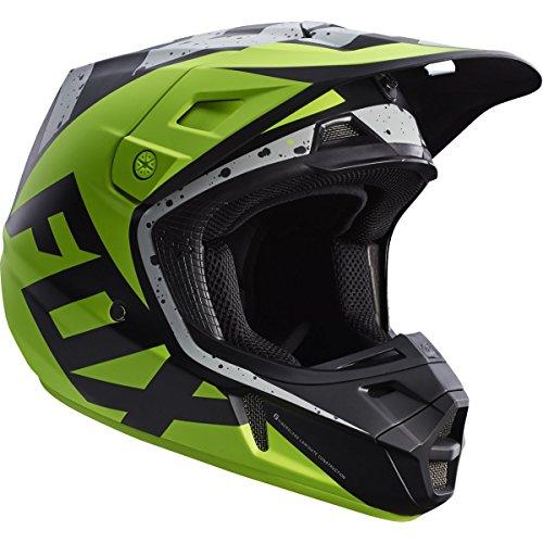 Fox Racing Nirv Adult V2 Motocross Motorcycle Helmets - GreyYellowSmall