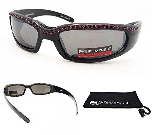 Motorcycle Pink Rhinestone Sunglasses Goggles Biker Riding Women Lady Chic Girl