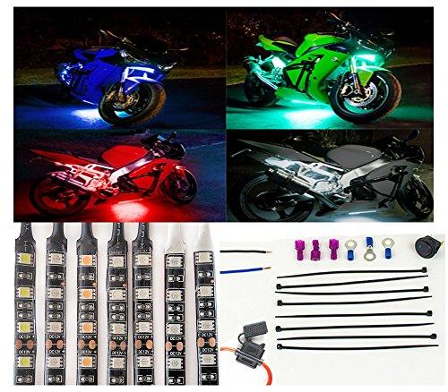 Pink Motorcycle LED Flexible Light Kit - 10pc 12 Strips