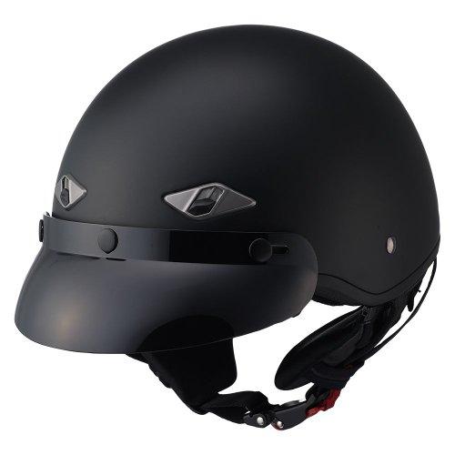 LS2 Helmets HH568 Half Helmet Matte Black Medium