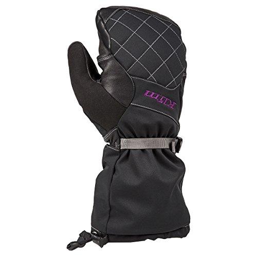 Klim Allure Womens Snowmobile Mitten - Large  Black-Purple
