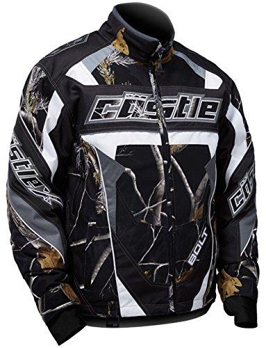 Castle X Bolt Realtree G4 Mens Snowmobile Jacket - Black Camo - MED