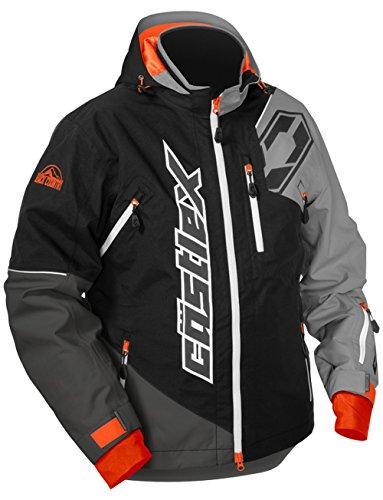Castle X Stance Mens Snowmobile Jacket BlackGray 3XL