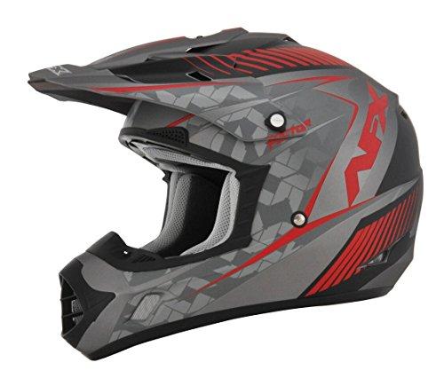 AFX FX-17 Factor Mens Motocross Helmets - GrayRed - Large