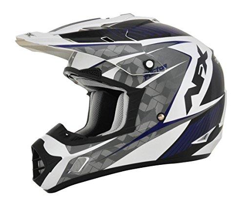 AFX FX-17 Factor Mens Motocross Helmets - WhiteBlue - X-Small