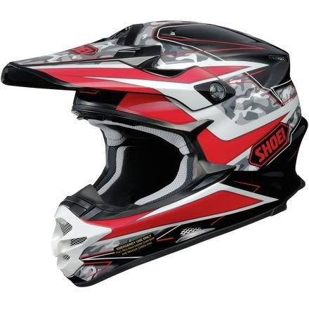 Shoei VFX-W Turmoil Mens Motocross Helmets - Blue - Large