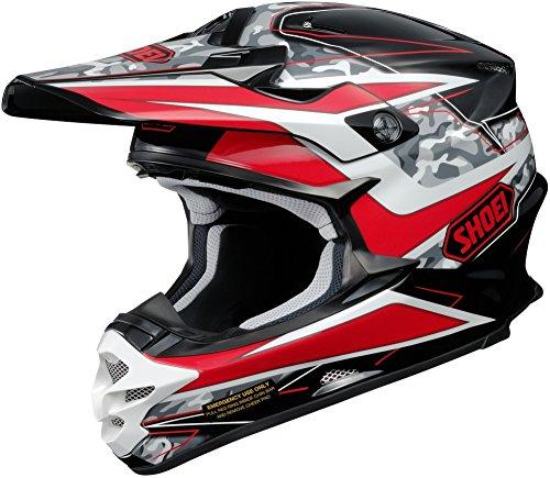 Shoei VFX-W Turmoil Mens Motocross Helmets - Red - X-Large
