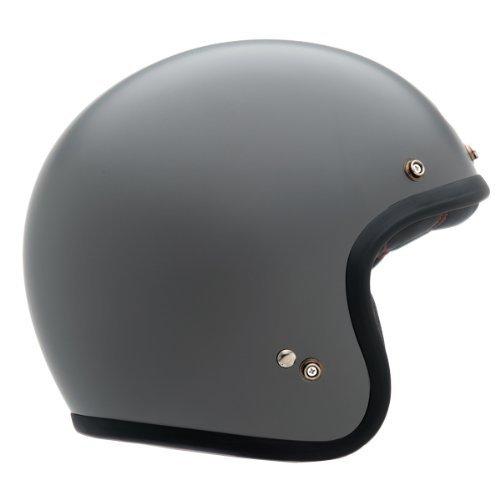 Bell Matte Custom 500 Half Face Motorcycle Helmet - Grey Primer  X-Large