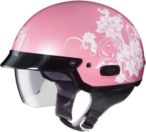HJC IS2 Blossom - Ladies Half Shell Open Face Helmet - Pink - SM