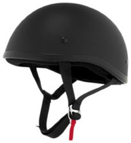 Skid Lid Original Half-Face Motorcycle Helmet X-Large Flat Black