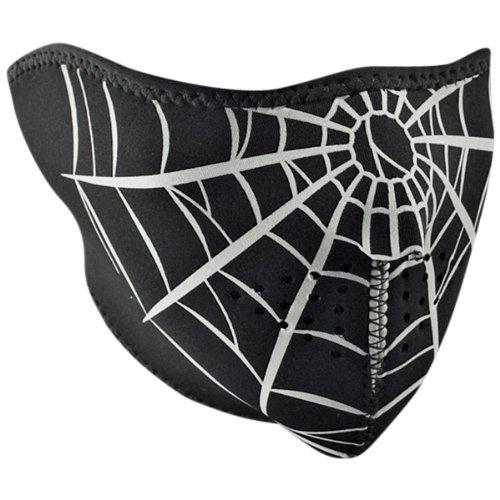 Zan Headgear Spiderweb Mens Half Face Mask Cruiser Motorcycle Helmet Accessories - One Size Fits Most