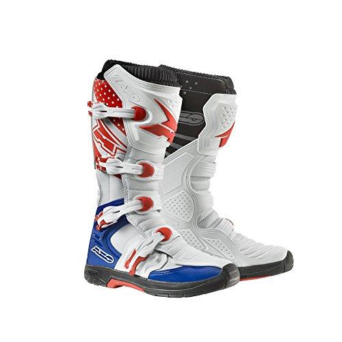 AXO Unisex-Adult MX One Boots WhiteRedBlue 8