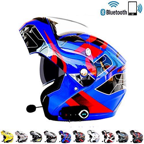 LTOOA Integrated Bluetooth Modular Helmet Full Face Racing Helmet Motorcycle DOT Certification Standard SecurityT08XXL