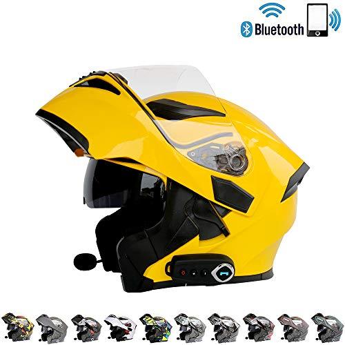 LTOOA Integrated Bluetooth Modular Helmet Full Face Racing Helmet Motorcycle Ece 2205 Dot Certification Standard SecurityS106XXL