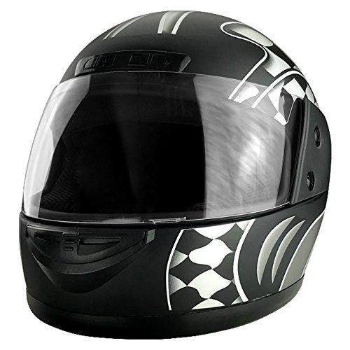 Matte Black Full Face Racing Helmet DOT Approved