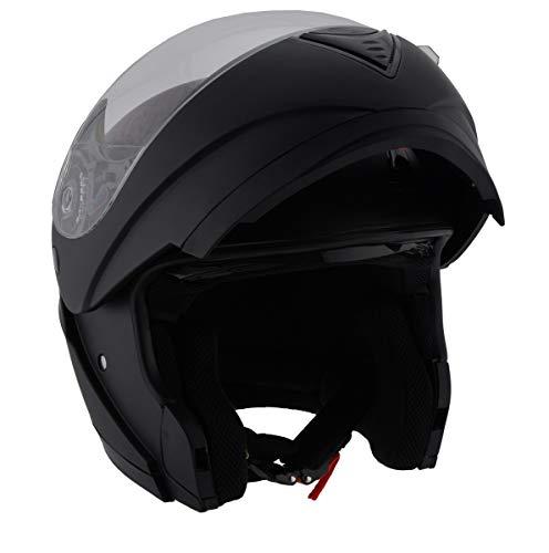 Milwaukee Performance DOT Approved Modular Full Face Racing Helmet w Sun Visor Matte Black X-Small