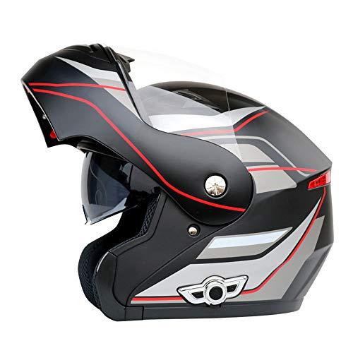 Shfmx Flip Front Motorcycle HelmetBuilt-in 3000Mah BatteryFull Face Racing HelmetsModular Motorcycle Helmet for Men WomenDOTECE StandardHD CallAnti-Fog Double MirrorL
