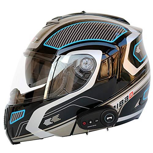 Smx Adult Modular Helmet Motorbike Crash Motorcycle DOTECE Standard -Full Face Racing HelmetsAnti-Fog DoubleListen to MusicFMPhone ChatL