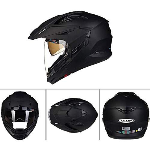 YBZS Standard Full Face Racing Helmet DOTECE Safety Helmet Certified ABS Helmet High Density ESP Inner Lining Motorcycle Anti-Collision ModularXXL