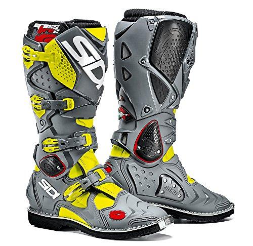Sidi Crossfire 2 TA Offroad Boots Yellow Gray US 95