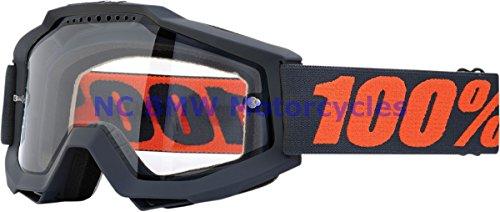 100 Motorcycle Riding Goggle Accuri ENDURO Gunmetal Smoke Lens 50202-025-02