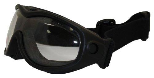Birdz Eyewear Heron Riding Goggles Matte Black FrameClear Lens