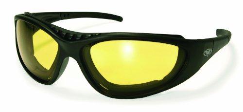 Global Vision Freedom Riding Goggles Black FrameYellow-Smoke Lens