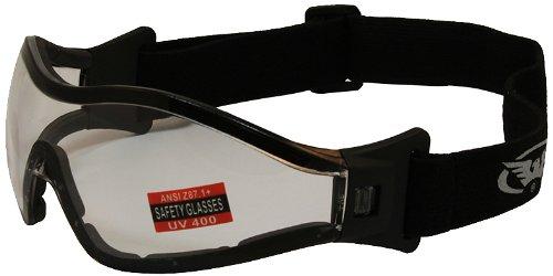 Global Vision Z33 Riding GogglesBlack FrameClear Lens